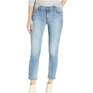 Hudson Mid-Rise Skinny Ankle Crop  Light Jeans
